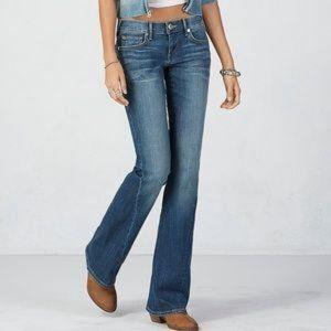 True Religion joey twisted seam flare leg jean